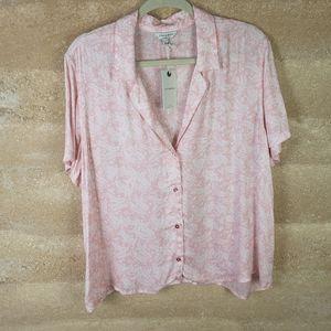 NWT Lucky brand Shirt Sz XL Pink